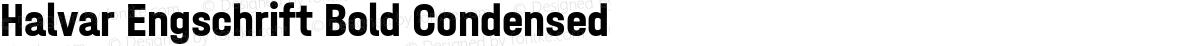 Halvar Engschrift Bold Condensed