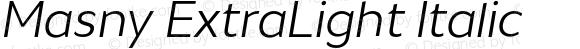 Masny ExtraLight Italic