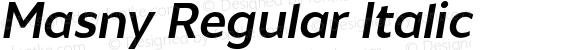 Masny Regular Italic