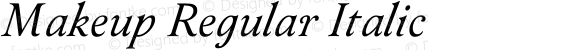 Makeup Regular Italic