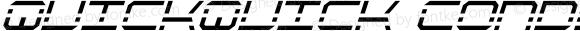 QuickQuick Condensed Italic Condensed Italic