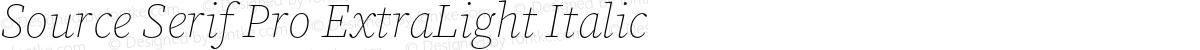 Source Serif Pro ExtraLight Italic