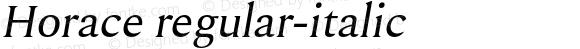 Horace regular-italic