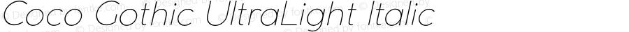 CocoGothic-UltraLightItalic