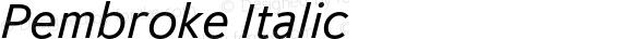 Pembroke Italic