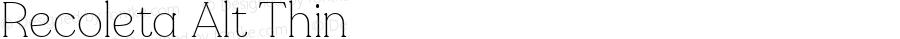 Recoleta Alt Thin Version 1.0   wf-rip DC20180525