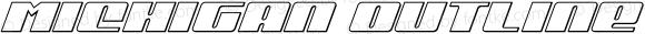 Michigan Outline Italic Outline Italic