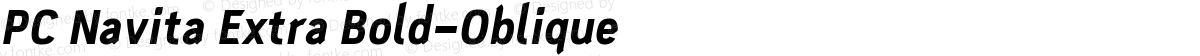 PC Navita Extra Bold-Oblique