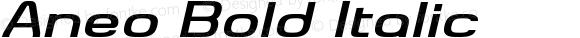 Aneo Bold Italic