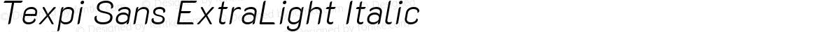 Texpi Sans ExtraLight Italic
