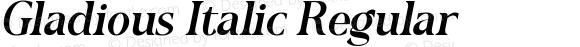 Gladious Italic
