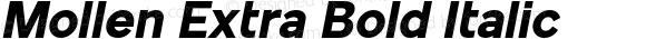 Mollen Extra Bold Italic