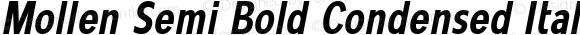 Mollen Semi Bold Condensed Italic