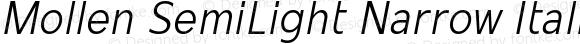 Mollen SemiLight Narrow Italic