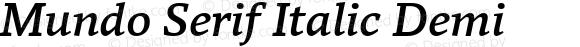 Mundo Serif Italic Demi