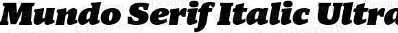 Mundo Serif Italic Ultra