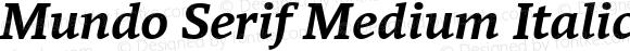 Mundo Serif Medium Italic