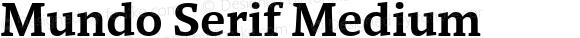 Mundo Serif Medium