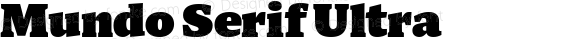 Mundo Serif Ultra