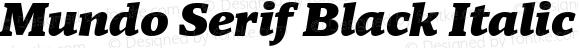 Mundo Serif Black Italic