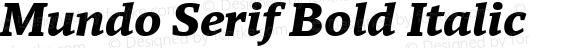 Mundo Serif Bold Italic