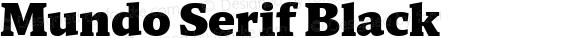 Mundo Serif Black