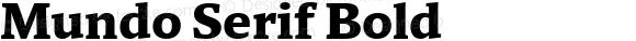 Mundo Serif Bold