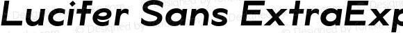 Lucifer Sans ExtraExp SemiBold Italic
