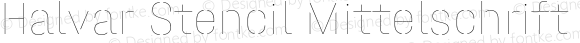 Halvar Stencil Mittelschrift Hairline MidGap