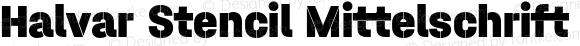 Halvar Stencil Mittelschrift Black MinGap