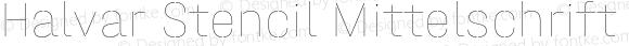 Halvar Stencil Mittelschrift Hairline MinGap