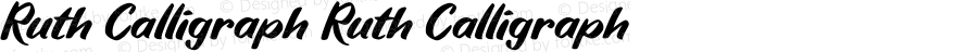 Ruth Calligraph Ruth Calligraph Version 1.000