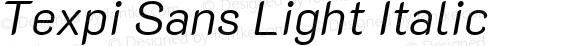 Texpi Sans Light Italic