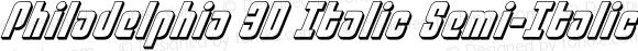 Philadelphia 3D Italic Semi-Italic