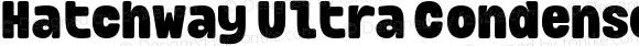 Hatchway Ultra Condensed Black