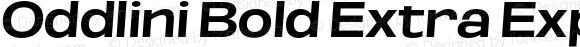 Oddlini Bold Extra Expanded SeObli