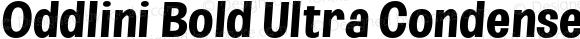 Oddlini Bold Ultra Condensed SeObli