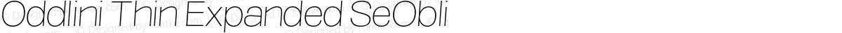 Oddlini Thin Expanded SeObli