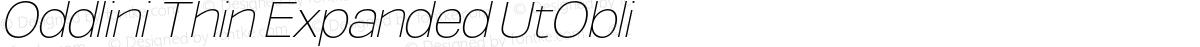 Oddlini Thin Expanded UtObli