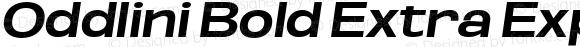 Oddlini Bold Extra Expanded Obli