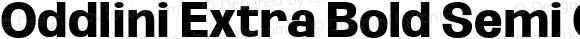 Oddlini Extra Bold Semi Condensed