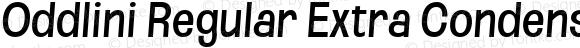 Oddlini Regular Extra Condensed SeObli