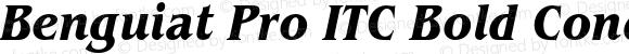 Benguiat Pro ITC Bold Condensed Italic