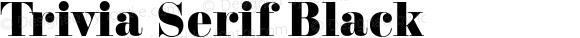 Trivia Serif Black