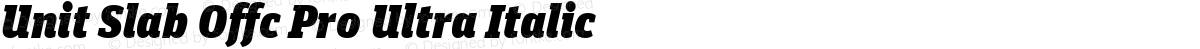 Unit Slab Offc Pro Ultra Italic