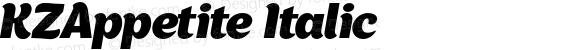 KZAppetite Italic