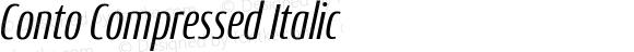 Conto Compressed Italic