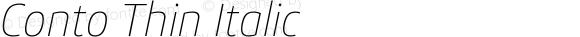 Conto Thin Italic