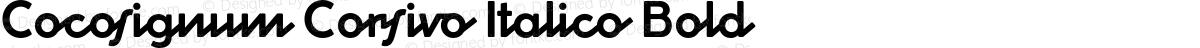Cocosignum Corsivo Italico Bold