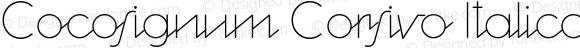 Cocosignum Corsivo Italico UltraLight